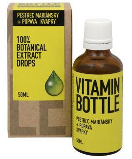 Levně Ostropestřec mariánský s pampeliškou - Vitamin Bottle, 50 ml,Ostropestřec mariánský s pampeliškou - Vitamin Bottle, 50 ml