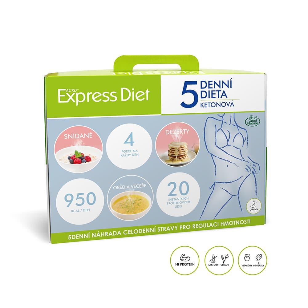 Levně 5denní proteinová ketonová dieta na hubnutí - Express Diet 20×59 g,5denní proteinová ketonová dieta na hubnutí - Express Diet 20×59 g